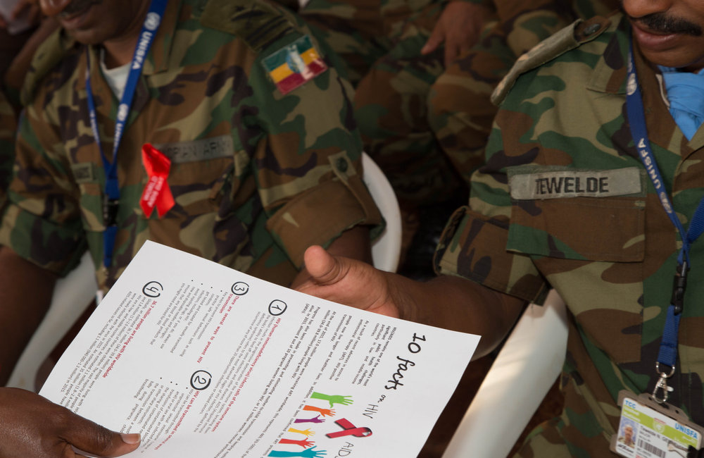 """In her keynote speech, A/FC and HoM Brig Gen Gebrekidan commended the holding of the joint event. """"This will contribute to coordinated efforts in combating the spread of HIV/AIDS."""""""