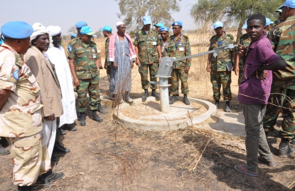 FC and DFC looked into the situation of the water reservoirs sites in Malon and Sink.