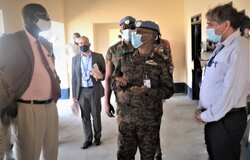 Maj. General Kefyalew Made Tessema on 1 November, handed over to local authorities sections of the  newly renovated Ameth-Bek Abyei Referral Hospital. Renovations of the Midwife and  Nursing training centre, kitchen and western wing, were done by UNIFSA and ACAD, a local implementing partners as  part of Quick Impact projects.