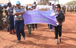 As the the world celebrated International Women's Day on 8 March 2017, the United Nations Interim Security Force for Abyei (UNISFA) conducted an event in Todach on the same day to emphasize the importance of women's role in the society.