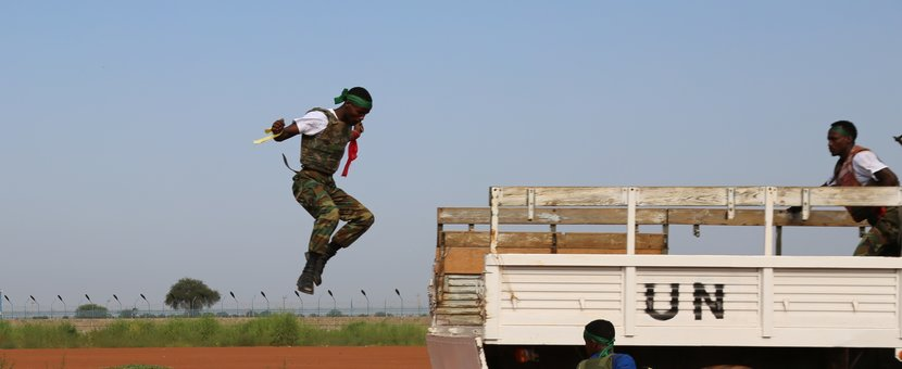 Ethiopian troops demonstrated skills with Paratroopers and Ural Borne presentation, as well as Taekwondo exhibition during the UN Day celebration
